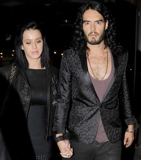 Katy Perry And Russell Brand In Dublin