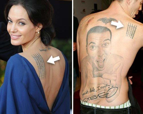 Jackass Steve-O is copying Angelina Jolie tattoos.